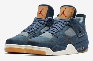 timeless design 3e480 2a625 Details about DS Nike Air Jordan 4 Retro x Levi's Sz 8 in hand Limited  Edition Tier 0