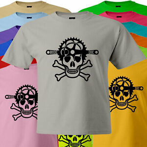 Ride or Die of Mountain Bike Skull Bicycle Cool Mens Unisex T-Shirt Tee Cycling