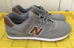 Details about New Balance 574 Canvas Classics Shoes Grey Brown ML574TXC Men's Size 18 Wide 2E