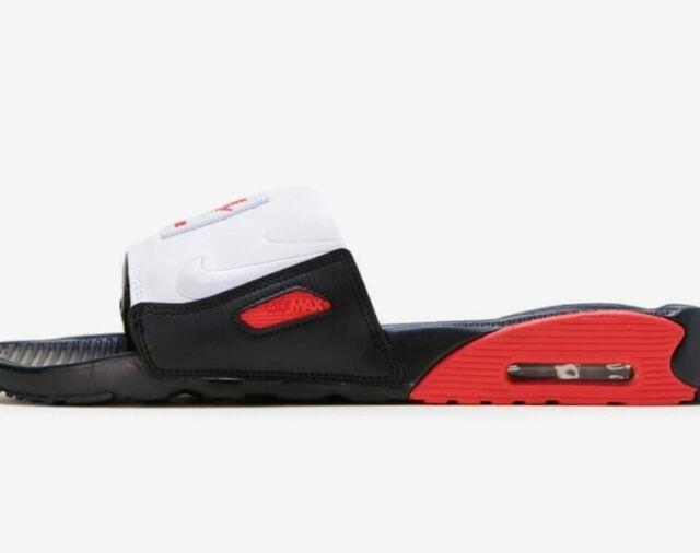 Nike Airmax Air Max 90 Slides Black White Bq4635 002 Men's Size 9