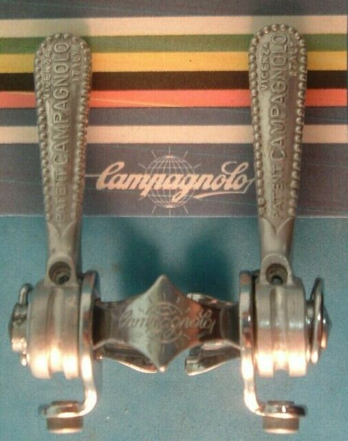 NOS Campagnolo Nuovo Super Record 1014 Shifters Downtube Clamp On Vintage Road