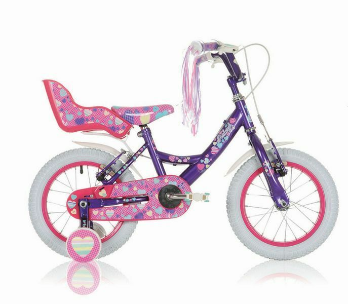 14  14 ZOLL Kinderfahrrad Mädchenfahrrad Kinder Mädchen Fahrrad Rad Bike Raleigh