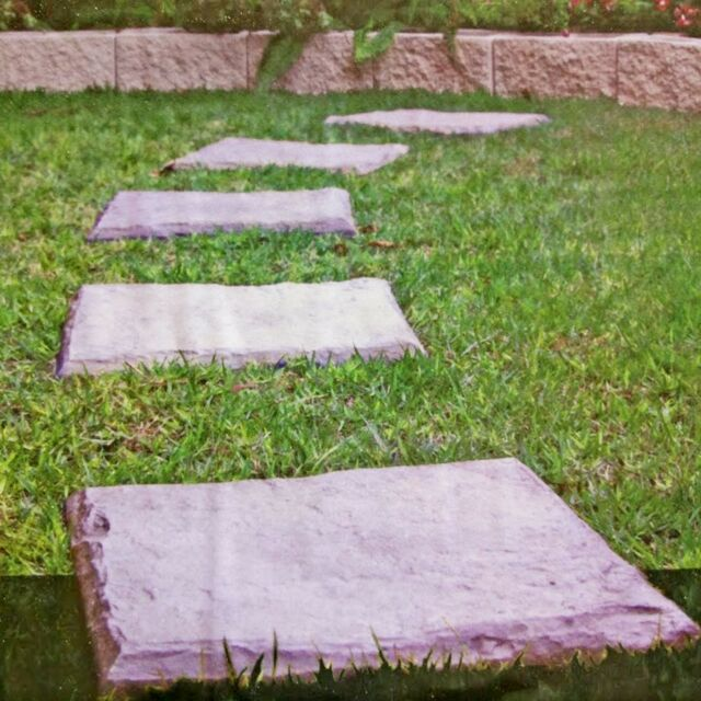 Plastic Patio Paving Slabs Imitation Garden Tile Stone Effect Feature Path Lawn