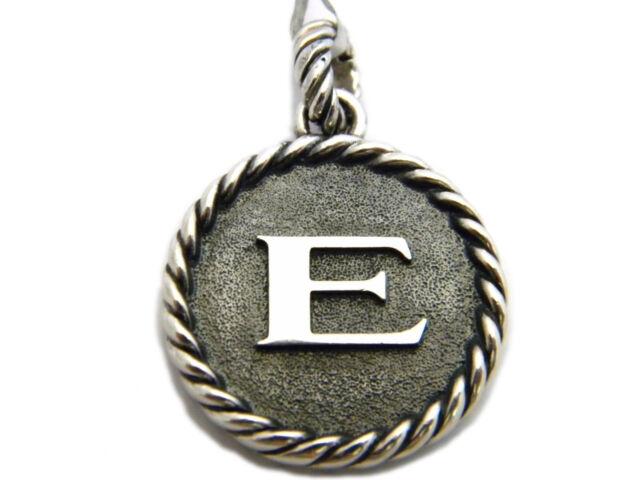 David yurman sterling silver initial charm e ebay david yurman sterling silver initial e charm enhancer pendant nwt aloadofball Choice Image