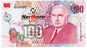 NORTHERN BANK £100 UNC 2005 Real Northern Ireland Belfast money VERY SCARCE