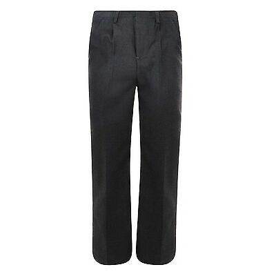 BOYS SCHOOL TROUSERS GREY BLACK CHARCOAL 3-16 YEARS EX STORE BRAND NEW
