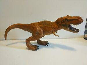2015 Jurassic World Park Stomp and Strike T-Rex Hasbro Tested and working