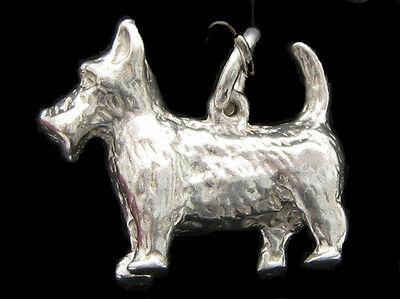 Scottie Dog Charm Sterling silver 925 charmmakers 3D