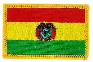 Bolivia Flag Small Iron On// Sew On Cloth Patch Badge Appliqué bandera Bolivian