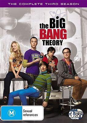 The Big Bang Theory : Season 3 DVD 3 disc set,Fast & Cheap Post, LIKE NEW....525