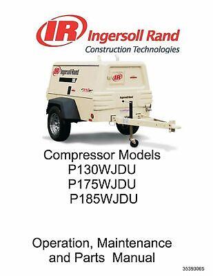 [DIAGRAM_38YU]  Ingersoll Rand P130WJDU/P175WJDU/P185WJDU Air Compressor Manual | eBay | Ingersoll Rand P185 Wiring Diagram |  | eBay