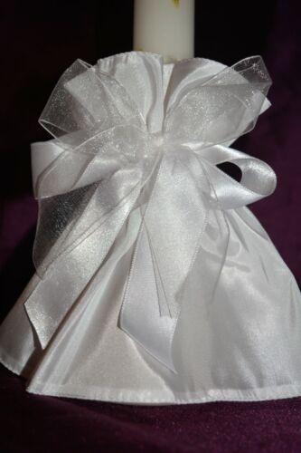 ❤ Kerzenrock Kerzentuch Kerzenschmuck Kommunion Braut Taufe Blumenmädchen