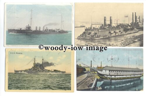 na4575a American Navy Warships Military Vessels 1916 onward 12 postcards