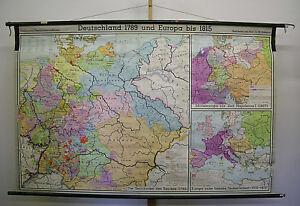 Wall-Map-Germany-Prussia-Austria-1789-1815-208x133cm-1966-Vintage-Map