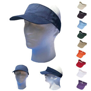 Visors-Sun-Plain-Hat-Sports-Cap-Cotton-Golf-Tennis-Beach-Summer-Women-Men-Kids