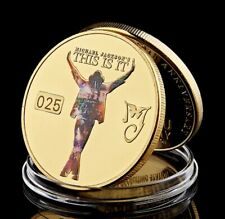 Large Gold plated BAR frosted The King of Pop Michael Jackson tribute coin