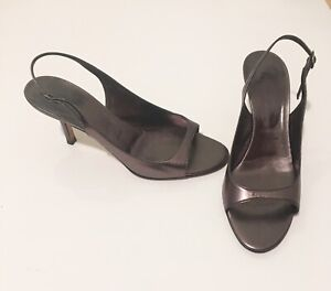 Vera-Wang-Strappy-Sandals-Made-in-Italy-Gunmetal-Metallic-385-7-5