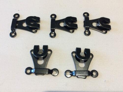 Gunmetal Trouser Hooks /& Bars Chrome Wholesale 144 Per Box