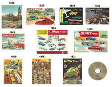 Dinky Toys 1958 1959 1961 1962 1963 1964 1965 1969 1970 1971 Catalogues on DVD