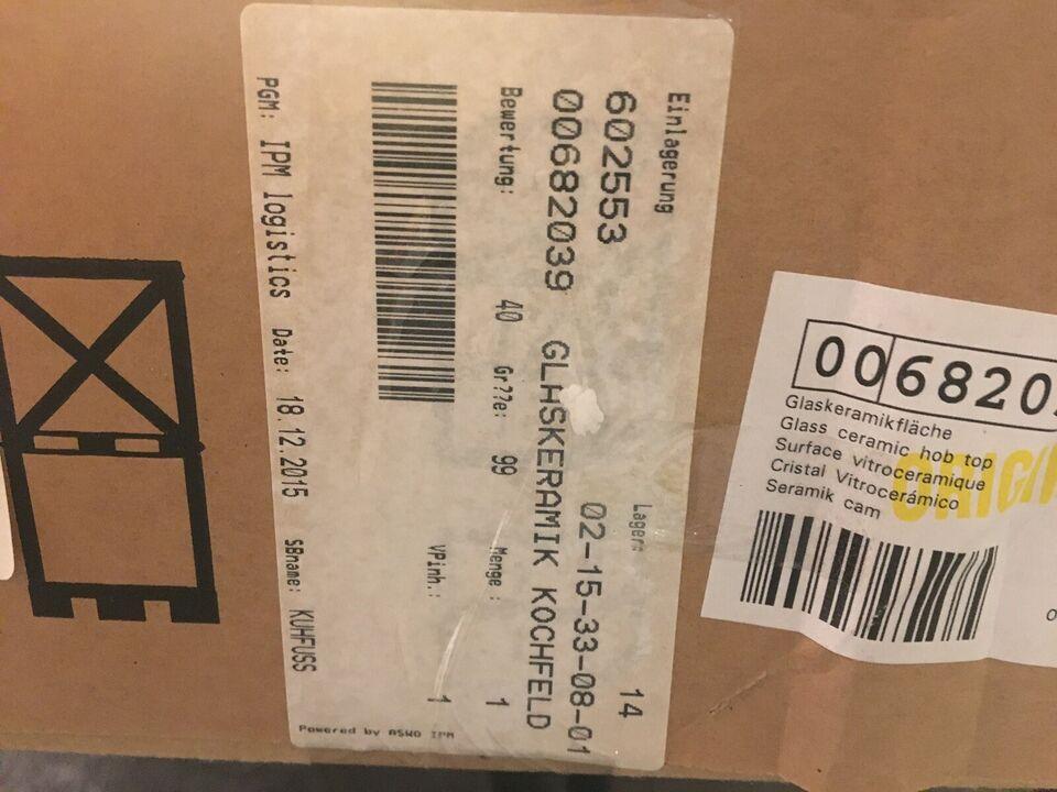 Glaskeramisk kogeplade, Bosch 00682039, b: 81 d: 52