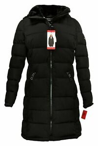 Andrew Marc Ladies' Long Stretch Insulated Parka Warm Size Medium Color Black