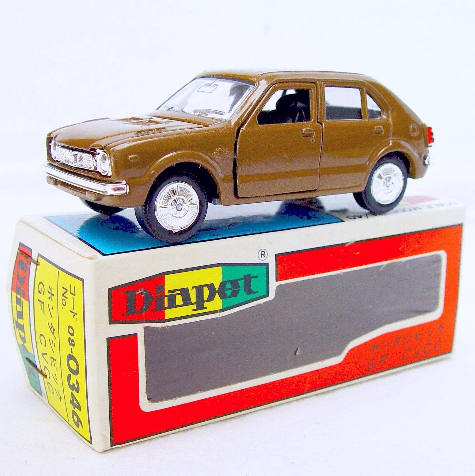 DIAPET Japón 1 43 Honda Civic CVCC GF 4 puertas coche modelo MIB`78  Bronze artículo raro