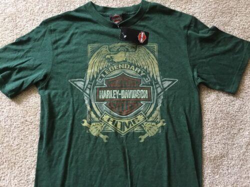 Harley Davidson Legendary dark green Shirt Nwt Men/'s Medium