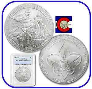 2010-P-Boy-Scouts-of-America-Silver-Dollar-1-Commemorative-Coin-PCGS-MS-70