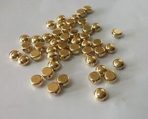 50 St. Scheiben halb rund 7 mm CCB Acryl Gold - Zwischenperle