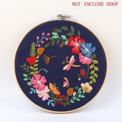 Needlework Kits DIY Embroidery Starter Kits With Pattern Cross Stitch Flower
