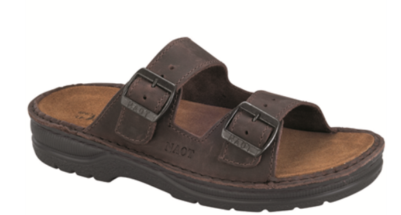 Naot Mikael Crazy Horse Leather Slide Comfort Sandal Men's sizes 40-48 NEW