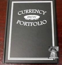 BCW Banknote Portfolio Album 3 Pocket Black Holds 30 Bills Holder Book