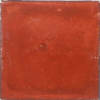 S10) Set Nine Mexican Tiles Clay Tile Washed Terracotta Color
