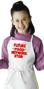 Details about Child Cooking Apron Future Food Network Star Kids Kitchen  Aprons by CoolAprons