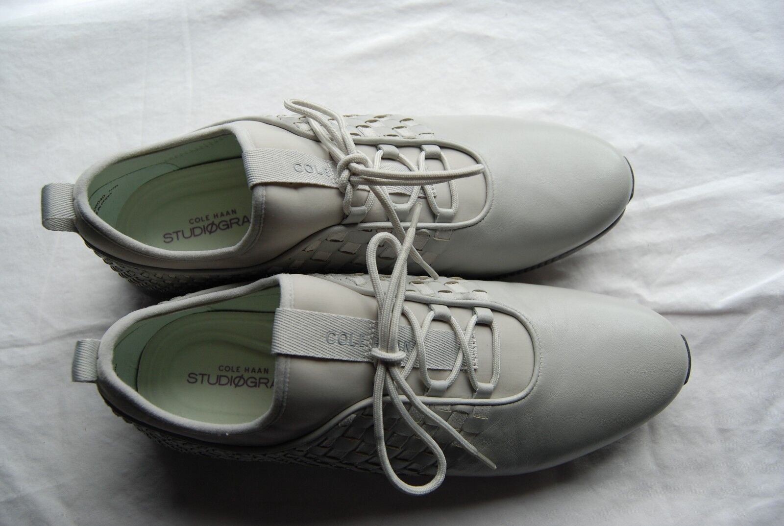 New Gray Gray New Woven Leder COLE HAAN StudioGrand Laced Fashion Sneaker Schuhes 10 B 533112