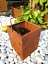 Edelrost Gartenlaterne Rost Kerzenlaterne Windlicht Kerzenhalter 032056 12*12*16
