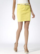 NWT CACHE Yellow SEXY  DENIM Dress Mini Skirt  Summer Club Party   4 ( S )