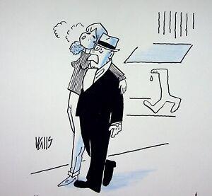 [ Humor - Presse ] Guy Valls - Time Fell - Zeichnung Original Unterzeichnet