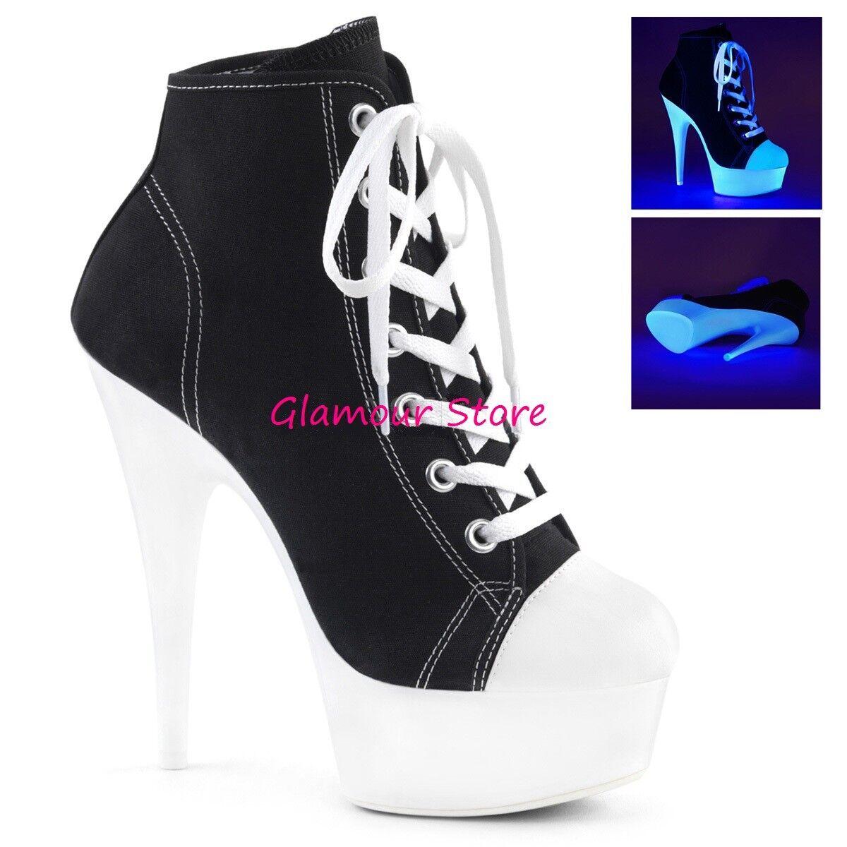 Sexy Zapatos FLUORESCENTI tacco al 20 sneaker dal 35 al tacco 40 NERO, ROSSO stivaletti bffe33