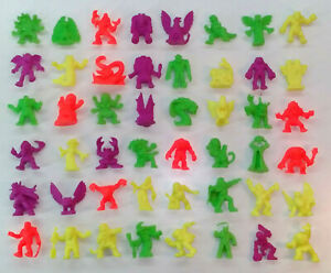 VINTAGE-MONSTER-IN-MY-POCKET-NEON-GREEN-RED-MIMP-SERIES-1-COMPLETE-SET-OF-48-LOT