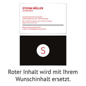 Visitenkarten Individuell Business Karten 300g Qm 85 X 55mm