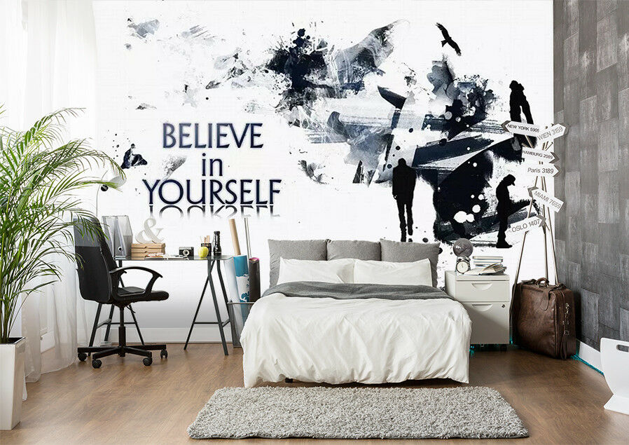 3D Positive Poster 5 Wall Paper Exclusive MXY Wallpaper Mural Decal Indoor wall