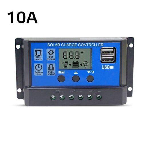 10//20//30A USB Solar Panel Battery Regulator Charge Intelligent Controller 12//24V