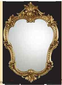 Espejos Espejo De Pared Antiguo Ovalado Oro Retro Barroca 50x35 Baño C444 Nuevo Muebles Antiguos Y Decoración