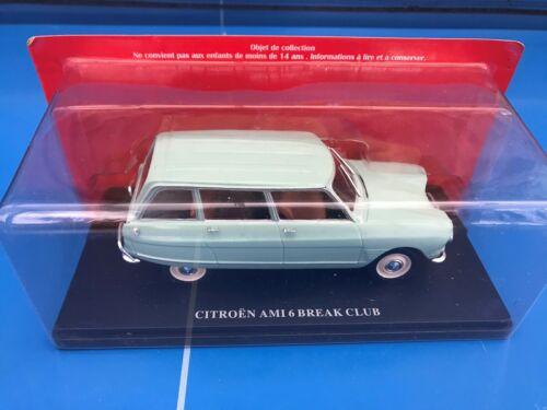 Hachette Citroën n°8 1//24 New in Box Neuve CITROEN AMI 6 Break CLUB VERTE