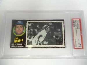 1971-RARE-Topps-Greatest-Moments-Lou-Piniella-38-PSA-6-Ex-Mt-YANKEES