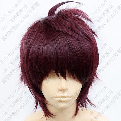 383 Dramatical Murder DMMd Mizuki Short Fuchsia mix Cosplay Wig free wig cap