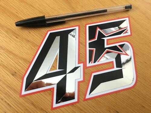 Scott Redding Race Number 45 - Medium Chrome UK SELLER