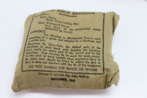 WWII-dated-1942-British-p37-pocket-bandage-034-First-Field-Dressing-034-each-E449