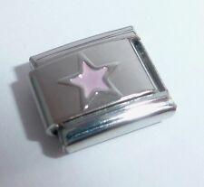 PINK STAR Italian Charm - Stars Night Sky 9mm Space fits Classic Bracelets E127